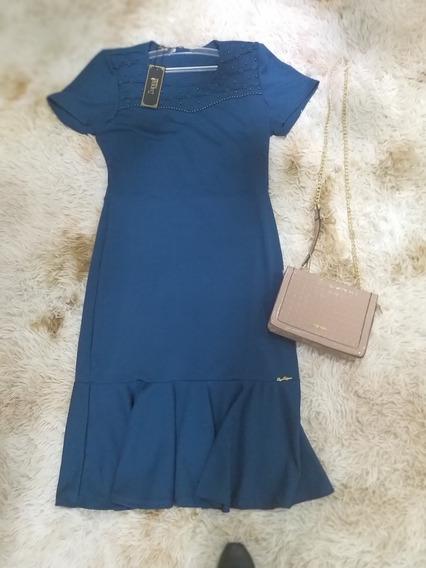 Vestido Azul Petróleo A Pronta Entrega De 259,90 Por 213,00