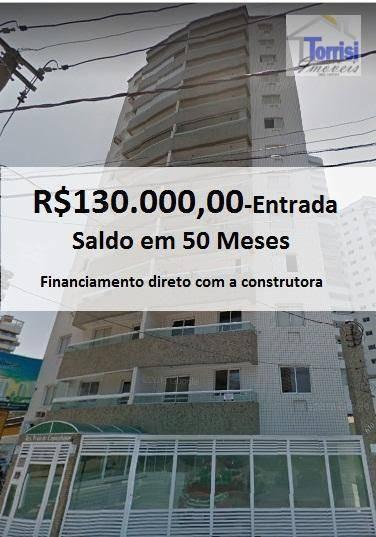 Apartamento Em Praia Grande, 02 Dormitórios Sendo 01 Suíte, No Bairro Boqueirao, Ap219 - Ap2119