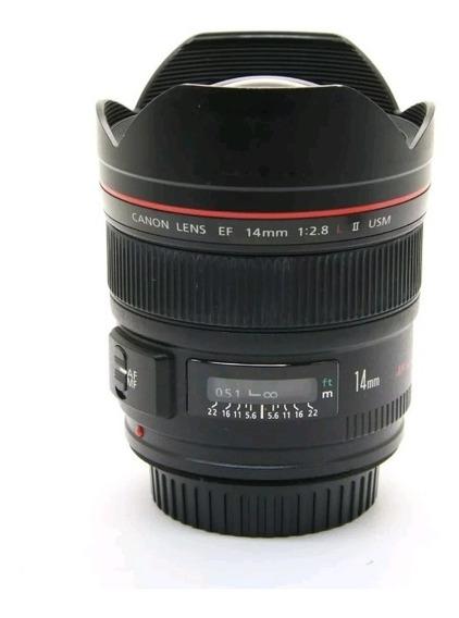 Lente Canon 14mm 2.8 Ii L Serie Impecable Fotografia Camara