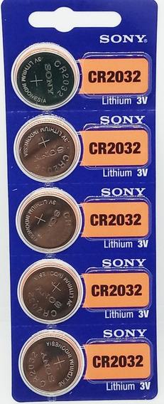 Kit Com 20 Pilhas Sony 2032 De 3 Volts Validade 2027