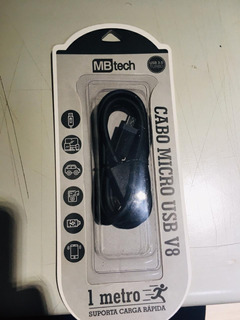 Kit Com 5 Cabos Micro Usb V8 1m Turbo Mb81169 Mbtech