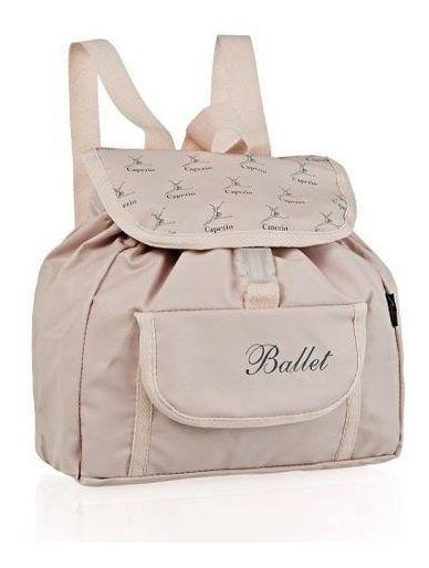 Bolsa Balé Capézio B 40 Mochila Infantil Rosa Sem Juros + Nf