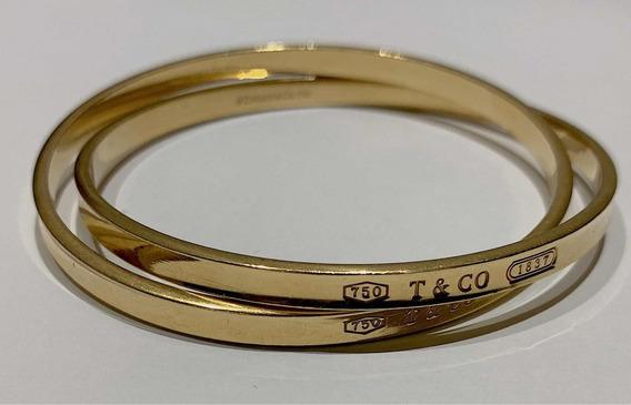 Bracelete Tiffany & Co Interlocking Circles De Ouro Amarelo