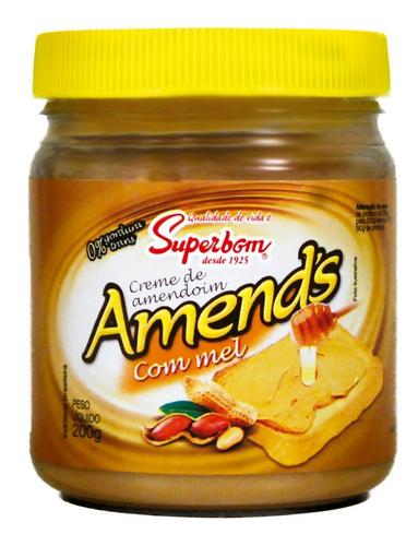 Creme De Amendoim Com Mel 200g Amend's - Superbom