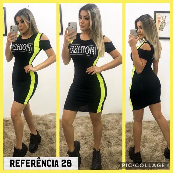 Vestido Feminino Com Estampa E Neon Verão 2020