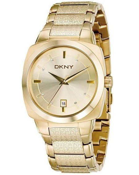 Relógio Luxo Feminino Dkny Donna Karan Todo Dourado Ny4363