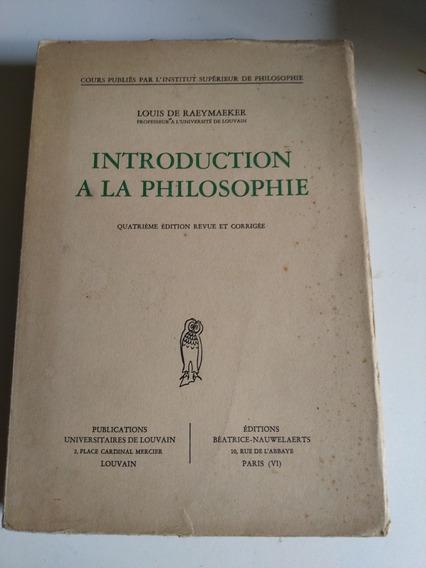 Introduction A Lá Philosophie