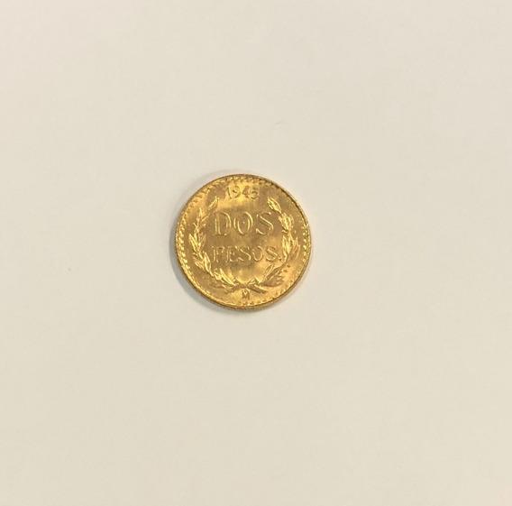 Moneda De Oro 2 Pesos 1945