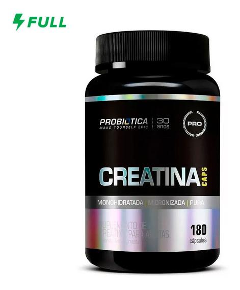 Creatina Pura Caps - 180 Capsulas - Probiotica