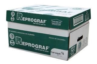 Resma Papel Oficio Reprograf 75g X 500 Hojas Caja X 10 Resma