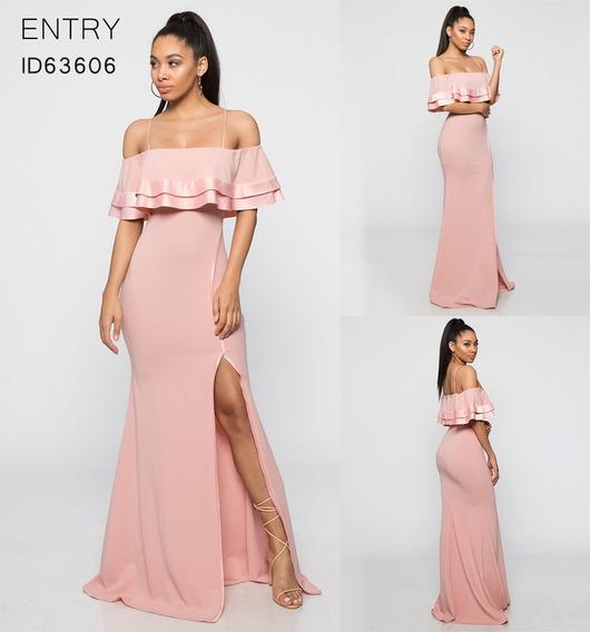 Vestido De Noche Para Graduacion Color Rosa Palo