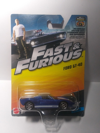 Fast & Furious Ford Gt-40 32/32 Mattel Escala 1/55