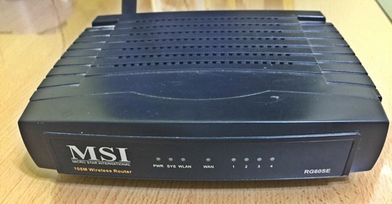 Router Msi Rg60se Usado Impecable