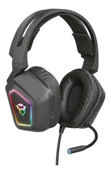 Headset Gamer Trust Gxt Blizz 7.1 Rgb Com Fio Pc Novo