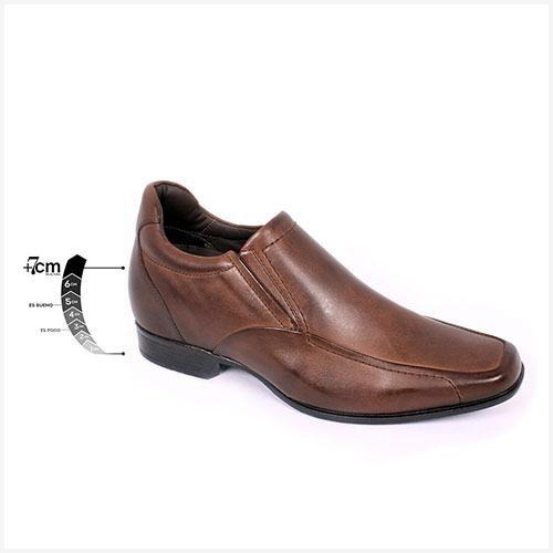Zapato Formal Tabaco Café Max Denegri +7cms De Altura