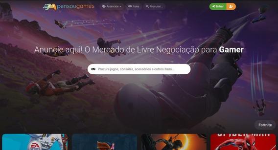 Vendo Site E App De Mercado De Negociação De Gamers E Geeks