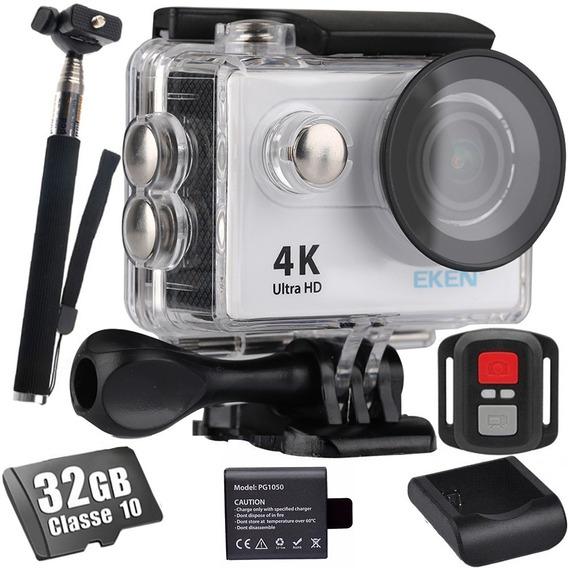 Camera Eken H9r 4k Original 32gb + Bastão + Bateria Pg1050