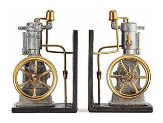 Pendulux Vertical Engine Bookends