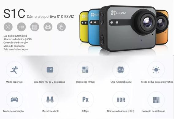 Câmera Capacete Esportiva Ezviz S1c Action Original