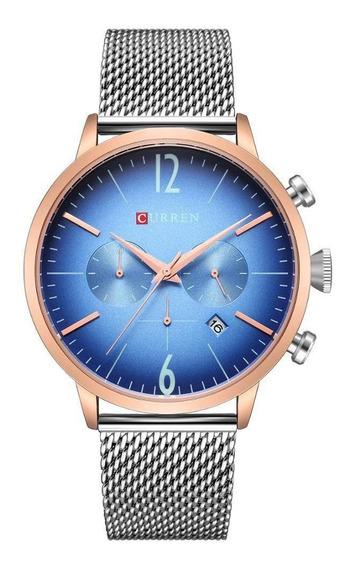 Relógio Unisex Curren Analógico C8313p+brinde