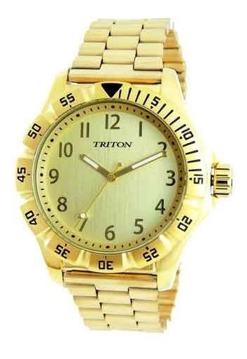 Relógio Masculino Triton Mtx293 Gold Original Pronta Entrega