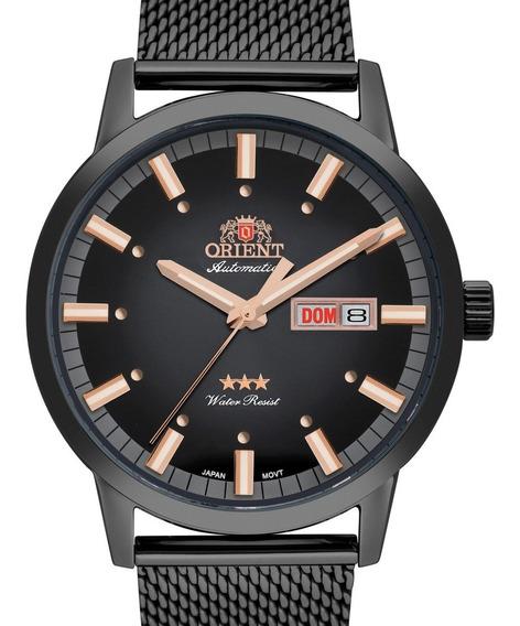 Relógio Orient Masculino Automatico Preto - 469ys085 G1gx