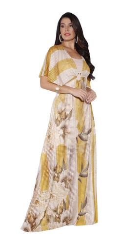 Imagem 1 de 6 de Vestido Feminino Longo Evangelico Festa Moda Fascinius