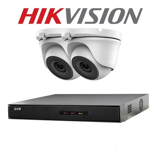 Kit 2 Camaras Seguridad Hikvision Dvr Full Hd