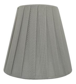 Cupula Prega Prata Para Lustre Arandela Lampada Vela Ef4486