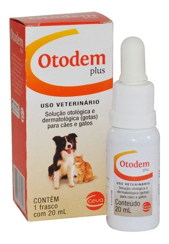 Solução Otológica Otodem Plus 20ml