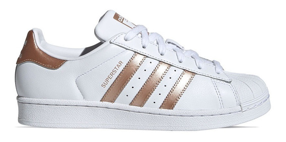 Tenis adidas Superstar W Branco Metalizado - Original Ee7399