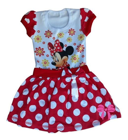 Vestido Minnie Vermelha Personagem Festa Tematico