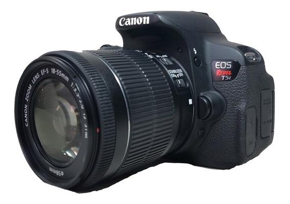 Camera Canon T5i C/ Lente 18-55mm S/ Nova E Conservada