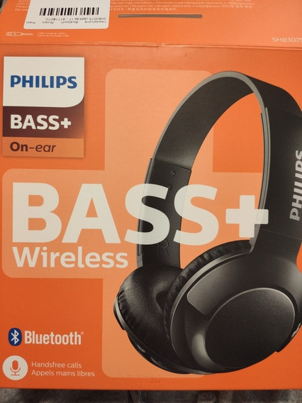 Headphone Philips Wireless Bass + On-ear Shb3075 - Usado