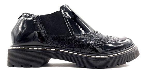 Zapato Mocasin Baja Charol Dama Mujer Liquidación Doc-2