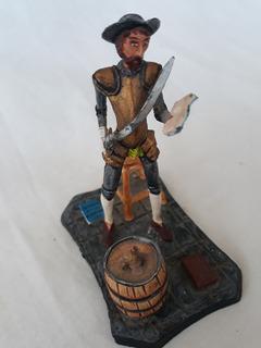 Figura Don Quijote De La Mancha En Plomo 9cm