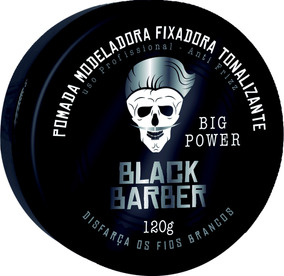 Muriel Black Barber Pomada Modeladora Fixadora Tonalizante 1