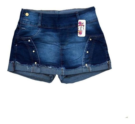 Kit 2 Roupas Femininas Short Jeans Plus Size