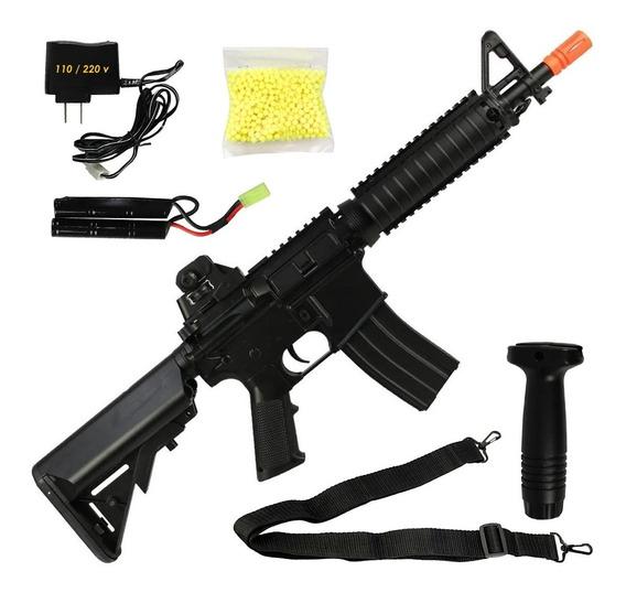 Rifle Fuzil Airsoft M4 M16 Cqb Elétrica Heavy Cs Go 1.6 Aeg