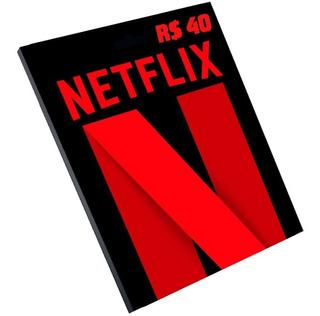 Cartão Presente Netflix R$ 40 Reais Pré-pago Br Assinatura