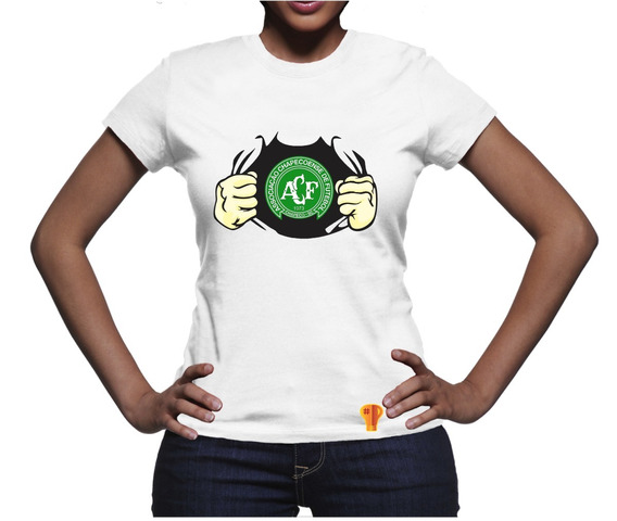 Chapecoense Camiseta Futebol Feminina T Shirt 2018 Brusinha