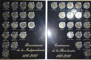 Colección De Monedas Conmemorativas De $5.00 Pesos.