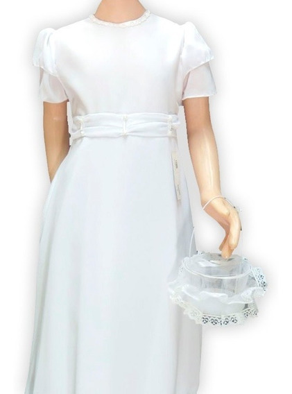 Vestido Comunion Corte Princesa Drapeada 203 Nena Childrens