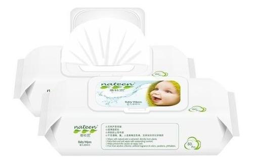 Imagen 1 de 3 de Nateen Toallas Humedas De Bebé X 80 Unidades