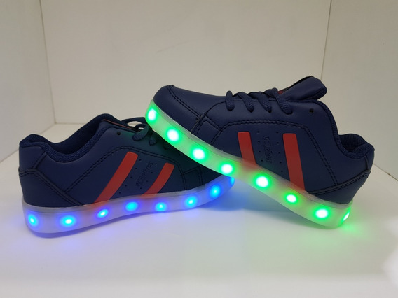 Zapatillas Luces Led Unixes Recargables En 4 Colores