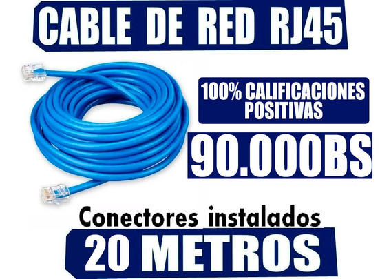 Cable Internet 20 Metros Utp Cat5e Certificado Iso