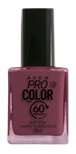 Imagem 1 de 1 de Avon - Pro Color 60 Segundos - Esmalte - Vinho Romântico