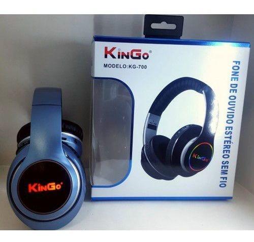 Fone De Ouvido Bluetooth Estéreo Kingo Kg-700