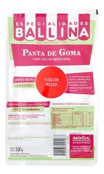 Pasta De Goma Ballina Color 500g Ciudad Cotillón Envíos