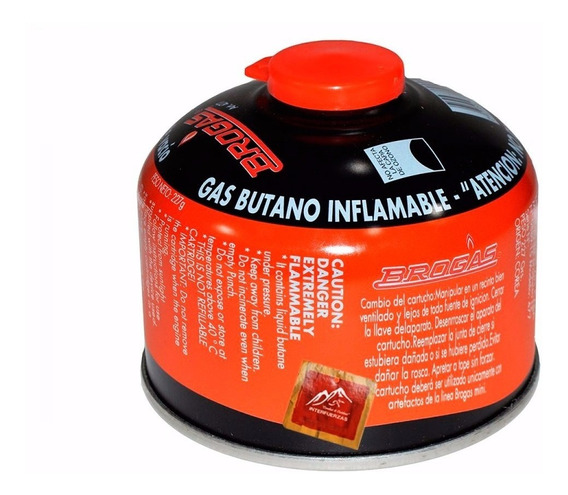 Cartucho Gas Butano Brogas 230 Gramos Para Anafe Calentador